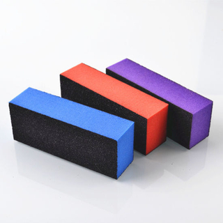 Polishing Sanding Sponge Buffing Nail Art Black Block Buffer