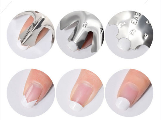 Easy French Poly Tips Guide Nail Manicure Tool
