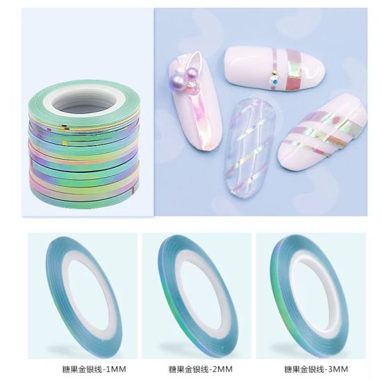 Pinky Color Stripping Tape Glitter Nail Striping Tape Nail Art