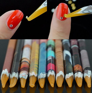 Nail Dotting Pen Stones Packing up Pencil Nail Art Tool