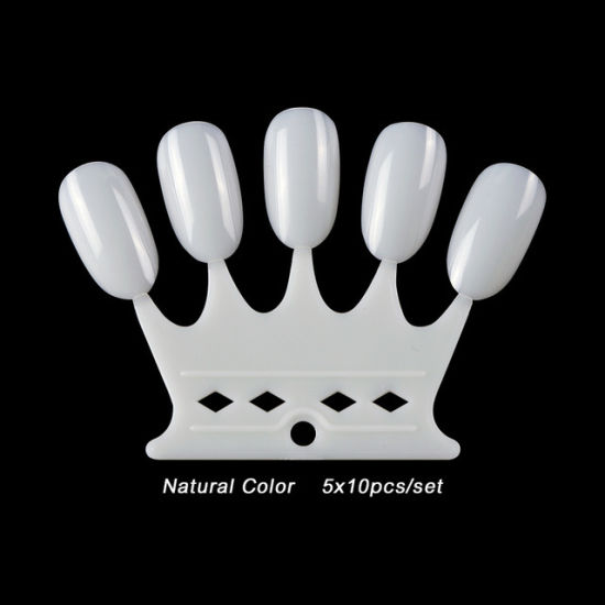Nail Chart Palette Practice Display Tool Nail Art Crown Shaped