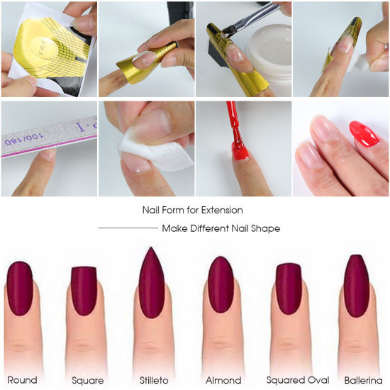 French Nail Forms Gel Polish Extension Forms Nail Art Decoration