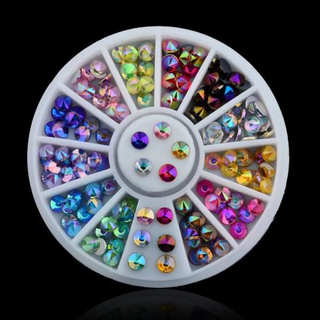 Colorful Ab Color Crystal Stones Glitter Rhinestones for Nail Art