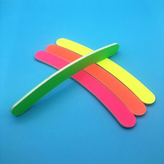 Nail File Banana Buffer 100/180 Colorful Emery Board Polish Care