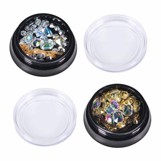 Colorful Mixed 3D Rhinestones Diamonds Gold Glitter Nail Art Decorations
