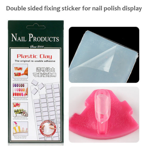 Double Sided Fixing Sticker for Nail Polish Display Nail Art