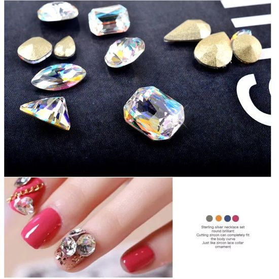 Wheel Crystal Ab Diamond Nail Stone Nail Art Decoration Manicure