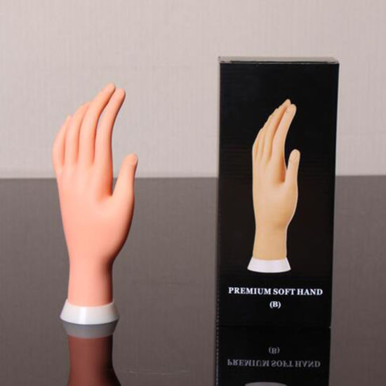 Nail Practice Hand Model Flexible Movable Prosthetic Soft Fake Hands
