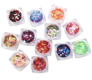 Flower Shape Glitter Glitter Multicolor Sequins for Nail Art Decoration