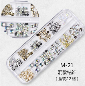 Colorful Multi-Size Nail Rhinestones 3D Decorations Nail Art Decorations