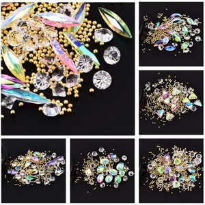 Mixed Irregular Figure Colorful Rhinestones Diamond Beads Nail Art Decoration