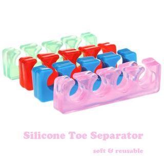 2PCS Soft Silicone Toe Separator Flexible Finge Nail Tool