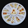 Gold Metal Alloy Jewelry Diamond Beauty Accessories Nail Art Decoration