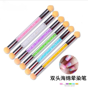 Dual Sponge Heads Gel Polish Color Gradient Nail Brush Pen