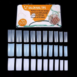500PCS White/Clear/Natural Color Nail Art Manicure Nail Tips