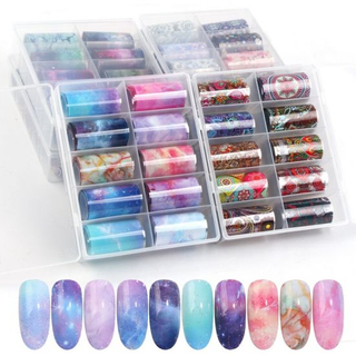 Nail Art DIY Transfer Foils Set Galaxy Milky Way Sticker