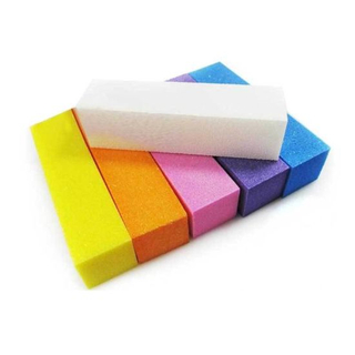Nail File Buffer Polisher Sanding Block Polished Lime Nail Sponge