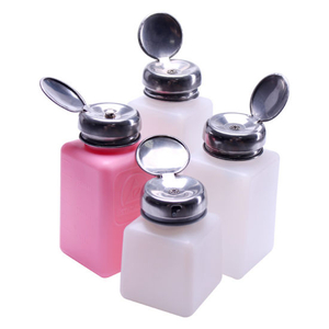 Nail Polish Remover Empty Bottle Push Down Pump Dispensers Lip