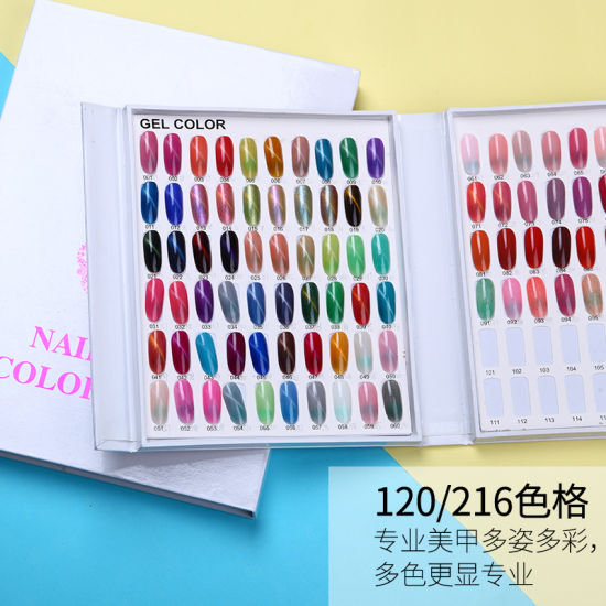 Dedicated White Nail Gel Polish Display Card Chart Color Chart