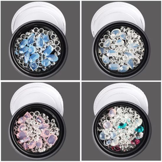3D Nail Art Decorations Acrylic Diamond Different Shapes Nail Rhinestones
