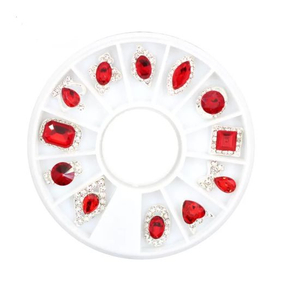 Charms Ruby 3D Diamonds Jewelry Nail Art Decorations Accessories
